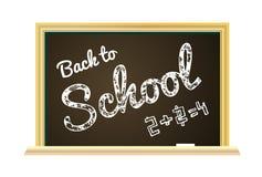 Back to school Illustration on a chalkboard background Royalty Free Stock Photo