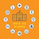 Back to school illustration Stock Photos