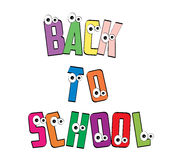Back to school. Illustration is back to school with eyes Royalty Free Stock Image