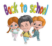 Back to school. Illustration of Group of children back to school Stock Images