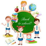 Back to school illustration. Stock Photography