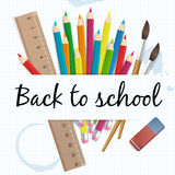 Back to school  illustration. Isolated. layered Vector Illustration