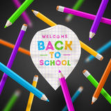 Back to school illustration Royalty Free Stock Photos