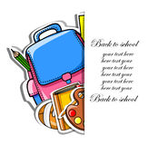 Back to school,vector. Illustration picture for your desing Royalty Free Stock Images