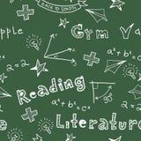 Back To School illustration. School Pattern. Stock Image