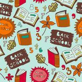 Back To School illustration. seamless Royalty Free Stock Photo