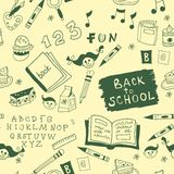 Back To School illustration. seamless Stock Photos