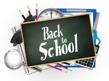 Back to school illustration. Back to school vector illustration background Stock Images