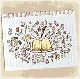 Back to School  illustration, vector icon. Stock Photography