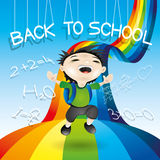 Back to school illustration. Stock Images