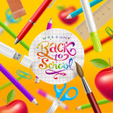 Back to school illustration Royalty Free Stock Image
