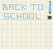 Back to school image. With color marker Royalty Free Stock Photo