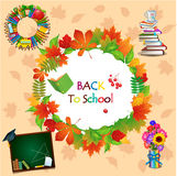 Back to school image with different objects Stock Images