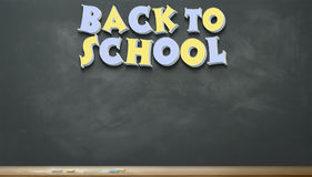 Back to School Image Eleven. An image of a chalkboard with the words `Back to School Royalty Free Stock Images