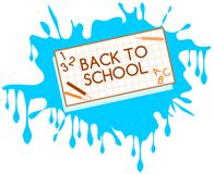 Back to school label with drop isolated Royalty Free Stock Photography