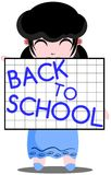 Back to school with girl Royalty Free Stock Photography