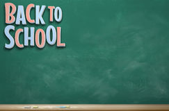 Back to School Image Ten. An image of a chalkboard with the words `Back to School` in pink and blue Royalty Free Stock Photos
