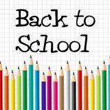 Back To School Indicates Youth Youngsters And Learned. Back To School Representing Educated Stationery And Youths Royalty Free Stock Image