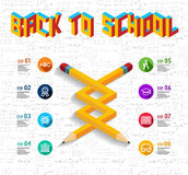 Back to school infographic design Stock Photography