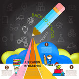 Back To School Infographic Design Element Stock Image
