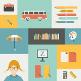 Back to school infographic template. Royalty Free Stock Image