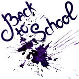 Back to school, ink blot. Vector illustration Stock Photos