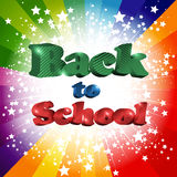 Back to school inscription Royalty Free Stock Photos