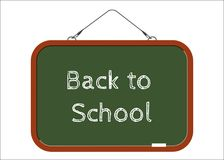 Back to school. The inscription on the board Stock Photo