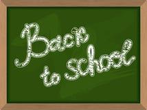 Back to school. Inscription on  Green chalk Blackboard. Chalk bo Royalty Free Stock Images