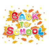 Back to school inscription multicolored letters Stock Photos
