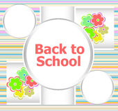 Back to school invitation card with flowers, education. Concept Royalty Free Stock Image