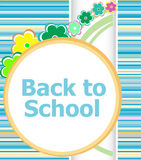 Back to school invitation card with flowers, education Stock Images