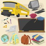 Back to school item pack 1 Royalty Free Stock Photos