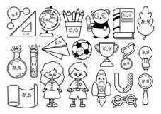 Back to School Kawaii stock illustration
