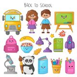 Back to School Kawaii vector illustration