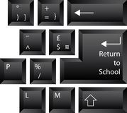 Back to School Keyboard Royalty Free Stock Photo