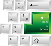Back to School Keyboard Royalty Free Stock Images