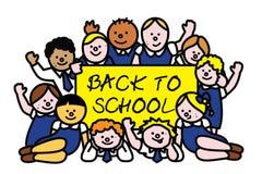 Back to school kids vector illustration