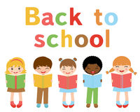 Back to school kids. A vector illustration of back to school kids Royalty Free Stock Photography