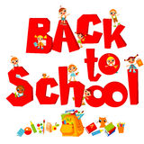 Back to School  with kids Royalty Free Stock Images