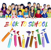 Back To School Kids Education Concept Royalty Free Stock Photos
