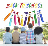 Back To School Kids Education Concept. Back To School Kids Education Stock Photography