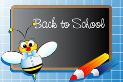 Back to school . Kids Illustration Stock Images