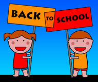 Back to school. Kids looking forward to go back to school Stock Images