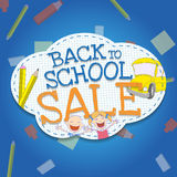 Back to School Kids Sale Stock Image