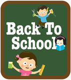 Back to school kids Royalty Free Stock Photography