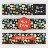 Back to School Knowledge and Education Vector Template Banners S Royalty Free Stock Image