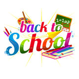 Back to school label Royalty Free Stock Photos
