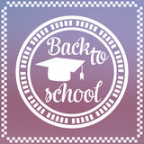 Back to School Label Design Royalty Free Stock Photography