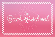 Back to School Label Design Stock Photography